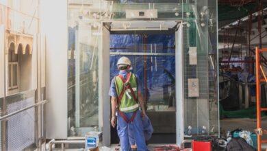 اختبار حمزلة ووزن المصعد